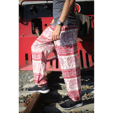 Load image into Gallery viewer, Cute elephant 27 men/women harem pants in Red PP0004 020027 03