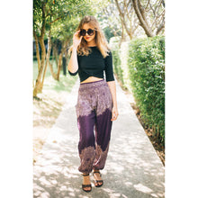 Load image into Gallery viewer, Floral Mandalas Women's Harem Pants in Purple
