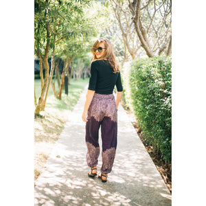 Floral mandala 36 women harem pants in Purple PP0004 020036 01