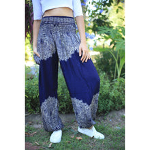 Load image into Gallery viewer, Floral mandala 36 women harem pants in Navy PP0004 020036 04