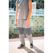 Load image into Gallery viewer, Zebra Stripe Men's Harem Pants in Black PP0004 020041 01