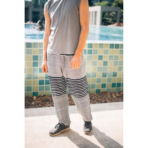 Zebra Stripe Men's Harem Pants in Black PP0004 020041 01