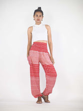 Load image into Gallery viewer, Zebra Stripe 41 women harem pants in Bright red PP0004 020041 08