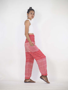 Zebra Stripe 41 women harem pants in Bright red PP0004 020041 08