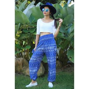 Hill Tribe Stripe Women's Harem pants in Bright Blue PP0004 020049 02