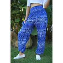 Load image into Gallery viewer, Hill Tribe Stripe Women's Harem pants in Bright Blue PP0004 020049 02