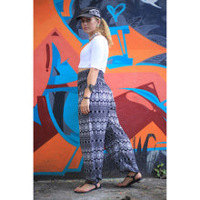 Load image into Gallery viewer, Hilltribe strip women's harem pants in Black  PP0004 020049 05