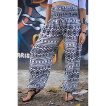 Load image into Gallery viewer, Hill Tribe Stripe Women's Harem pants in Black