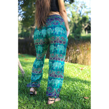 Load image into Gallery viewer, Cartoon elephant 52 women harem pants in Green PP0004 020052 04