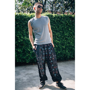 Peacock Heaven 58 Men/Women harem pants in black PP0004 020058 01
