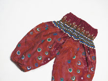 Load image into Gallery viewer, Peacock Heaven Unisex Kid Harem Pants in Red PP0004 020058 02