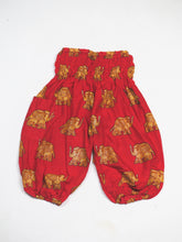 Load image into Gallery viewer, King Elephant Unisex Kid Harem Pants in Red PP0004 020059 02