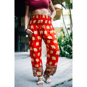 King Elephant Women's Harem Pants in Red