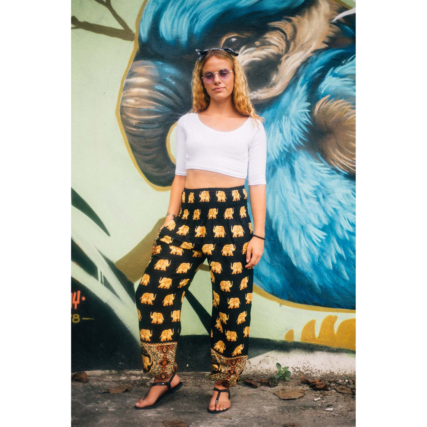 King Elephant Men/Womens harem pants in black  PP0004 020059 05