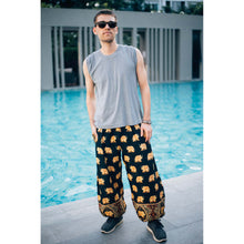 Load image into Gallery viewer, King elephant womens harem pants in black  PP0004 020059 05