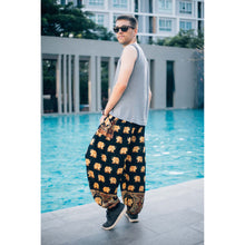 Load image into Gallery viewer, King Elephant Men/Womens harem pants in black  PP0004 020059 05
