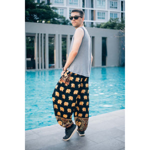 King Elephant Men's Harem Pants in Black