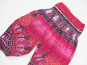 Tribal Dashiki Unisex Kid Harem Pants in Pink PP0004 020060 01