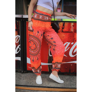 Tribal dashiki womens harem pants in Orange PP0004 020060 03