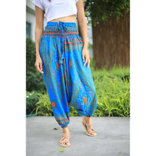 Load image into Gallery viewer, Big eye Unisex Aladdin drop crotch pants in Blue PP0056 020065 02
