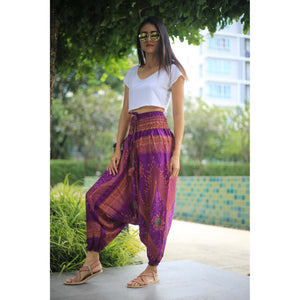 Big eye Unisex Aladdin drop crotch pants in Purple PP0056 020065 03