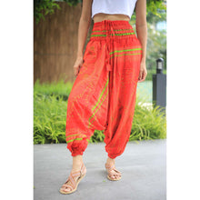 Load image into Gallery viewer, Big eye Unisex Aladdin drop crotch pants in Red PP0056 020065 06
