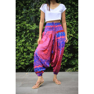 Mandala Unisex Aladdin drop crotch pants in Pink PP0056 020068 06