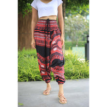 Load image into Gallery viewer, Black Regue Unisex Aladdin Drop Crotch Pants in Red PP0056 020072 02