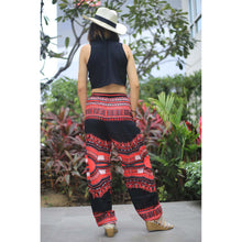 Load image into Gallery viewer, Black Regue Unisex Drawstring Genie Pants in Red PP0110 020072 02