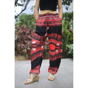 Black Regue Unisex Drawstring Genie Pants in Red PP0110 020072 02
