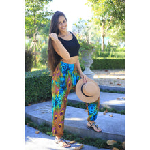 Load image into Gallery viewer, Wild feathers 73 women harem pants in Blue PP0004 020073 01