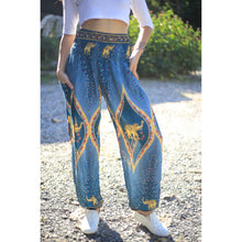 Load image into Gallery viewer, Diamond Elephant Womens Harem Pants in Ocean Blue PP0004 020079 03
