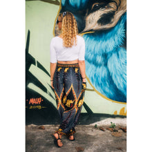Load image into Gallery viewer, Diamond Elephant Womens Harem Pants in Black PP0004 020079 04
