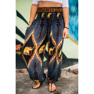 Diamond Elephant Womens Harem Pants in Black PP0004 020079 04
