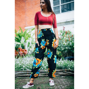 2 tone flower 82 women harem pants in Orange PP0004 020082 03