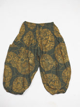 Load image into Gallery viewer, Floral Classic Unisex Kid Harem Pants in Green PP0004 020098 07