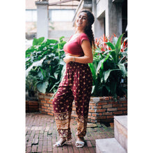 Load image into Gallery viewer, Elephant 99 women harem pants in Dark Red PP0004 020099 04