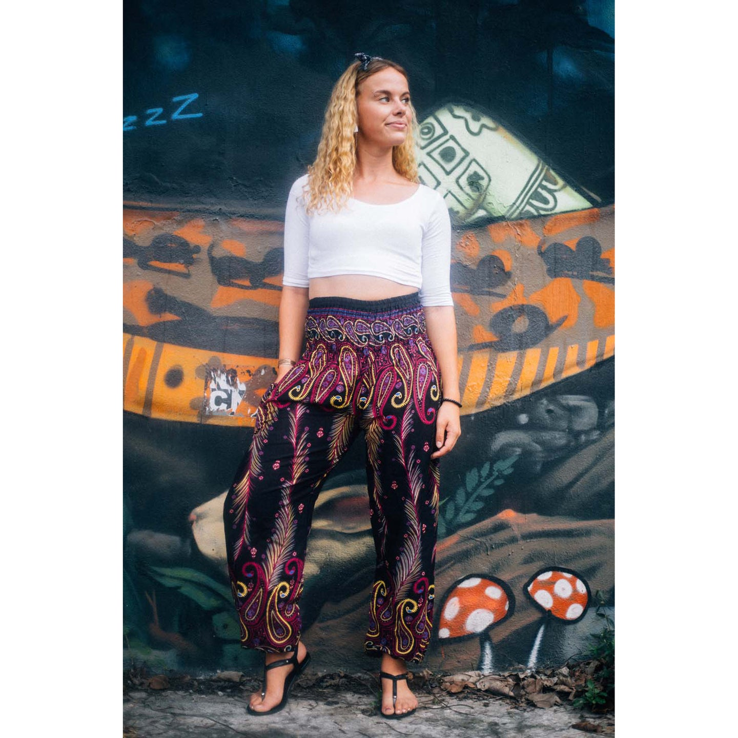 Vibrant vibes 116 women harem pants in Pink PP0004 020116 01