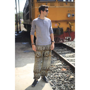 Rupestree elephant 123 men/women harem pants in Green PP0004 020123 03