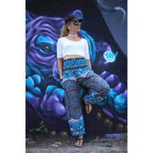 Load image into Gallery viewer, Contrast mandala 127 women harem pants in Black PP0004 020127 01