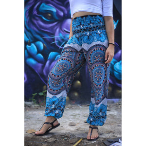 Contrast mandala 127 women harem pants in Black PP0004 020127 01