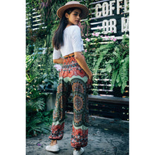 Load image into Gallery viewer, Contrast mandala 127 women harem pants in Green PP0004 020127 02
