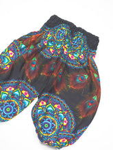 Load image into Gallery viewer, Handmade Rose Unisex Kid Harem Pants in Blue PP0004 020130 03