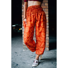 Load image into Gallery viewer, Flowers 147 women harem pants in Orange PP0004 020147 01