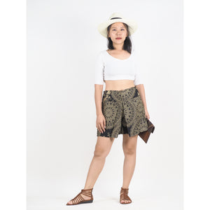 Mandala Women's Wrap Shorts Pants in Black PP0205 020170 04