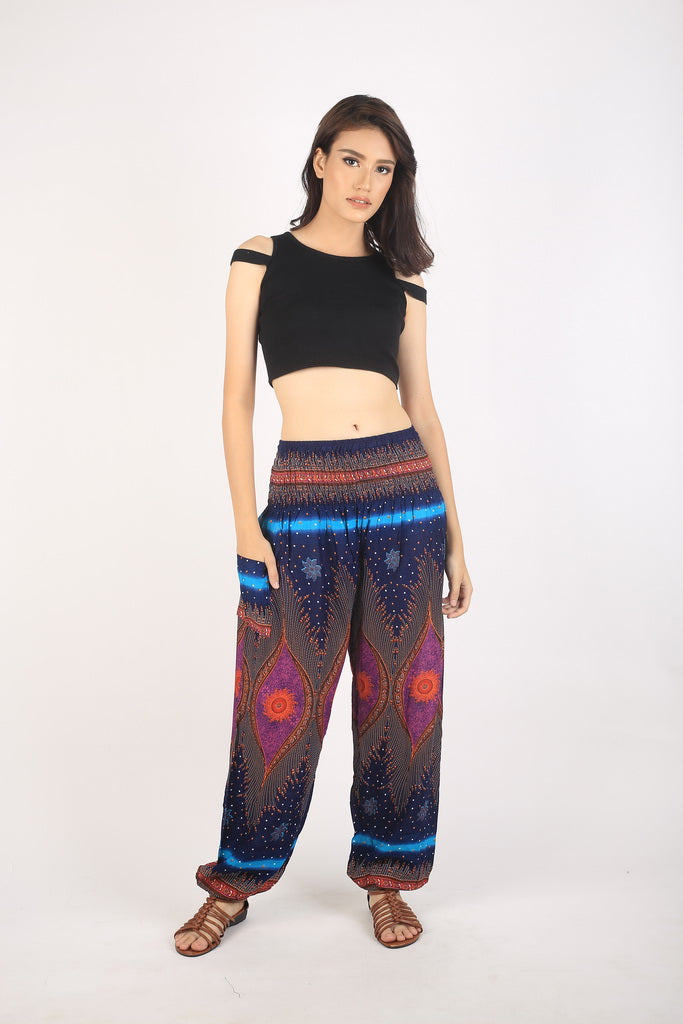 Big eye 175 women harem pants in Navy PP0004 020175 01