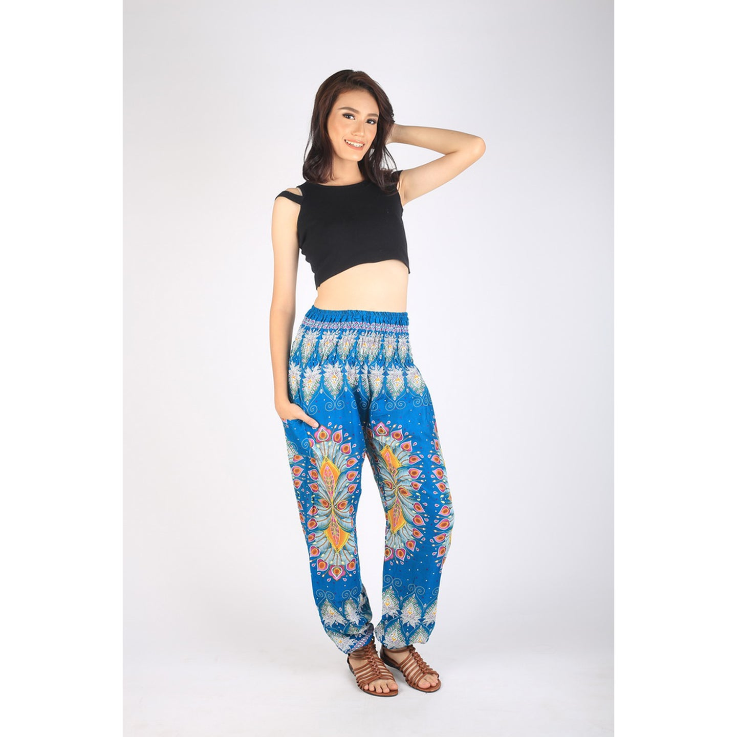 Tie dye 192 women harem pants in Ocean blue PP0004 020192 05
