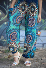 Load image into Gallery viewer, Abstract mandala 132 women harem pants in Bright Navy PP0004 020132 01