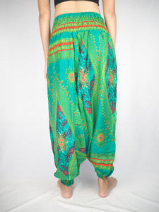 Big eye Unisex Aladdin drop crotch pants in Green PP0056 020065 05