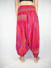 Load image into Gallery viewer, Big eye Unisex Aladdin drop crotch pants in Pink PP0056 020065 01